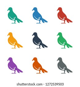 dove icon white background. Editable filled dove icon from animals. Trendy dove icon for web and mobile.