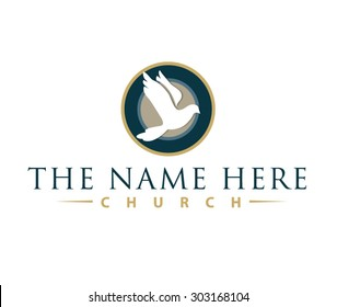 Church logo images stock photos vectors shutterstock dove logo perfect for a modern church logo design altavistaventures Images