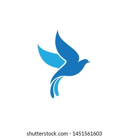 Dove logo template vector icon