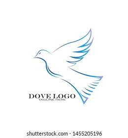 Dove Logo Template vector illustration - Vector