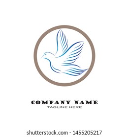 Dove Logo Template vector illustration - Vector