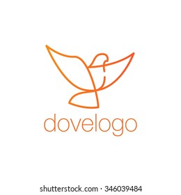 Dove and Peace Logo Vector Template