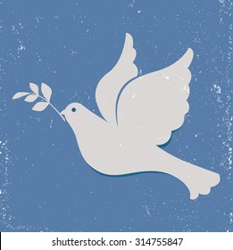 Dove of Peace, Pigeon with olive branch
