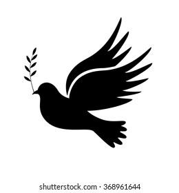 Dove of Peace vector illustration, symbols.