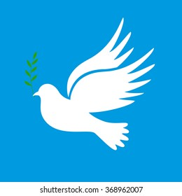 Dove of peace. Dove of Peace Vector. Peace dove, symbol of peace