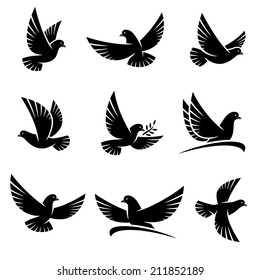 Dove set. Vector
