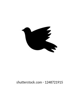 dove vector icon. dove sign on white background. dove icon for web and app