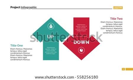 Down Arrow Diagram Slide Template Stock Vector Royalty Free