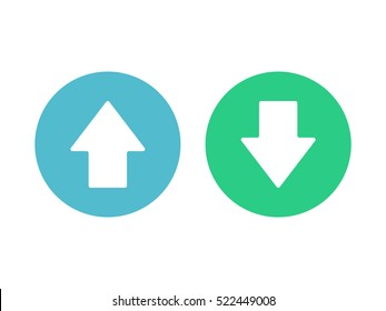 Up and down arrow icon vector