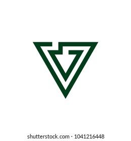 down arrow triangle lines symbol vector