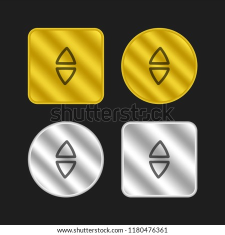 Down Arrows Hand Drawn Triangles Couple Stock Vector