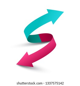 Up and Down Arrows. Vector Double Arrow Symbol.