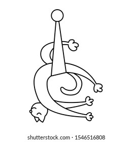 Up down cat in hammock. Aerial yoga. Anti gravity relax position. Outline yoga animal. Fly yoga swan pose.