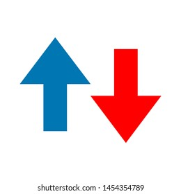 up down icon. flat illustration of up down. vector icon. up down sign symbol