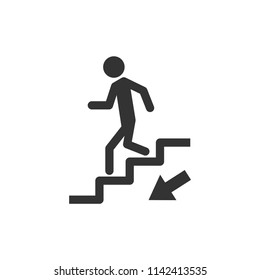 down the stairs public signature icon vector eps 10