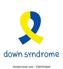 down syndrome. yellow blue ribbon