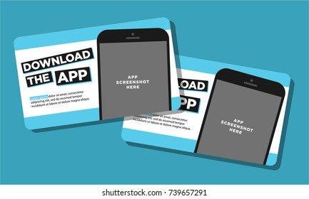Download The App Sticker with Phone and Screenshot Space