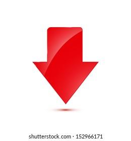Download arrow. Vector illustration.