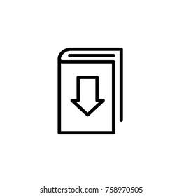 Download book icon vector