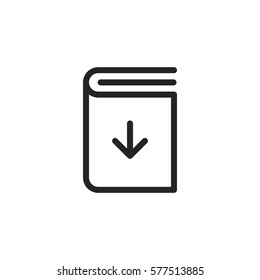 Download book vector icon, ebook symbol. Modern, simple flat vector illustration for web site or mobile app
