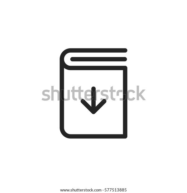 Download Book Vector Icon Ebook Symbol Stock Vector (Royalty Free