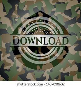 Download camouflaged emblem. Vector Illustration. Detailed.