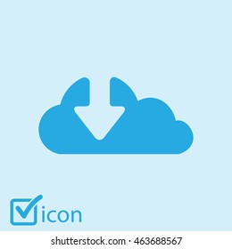 Download  from cloud icon. Upload button. Load symbol.