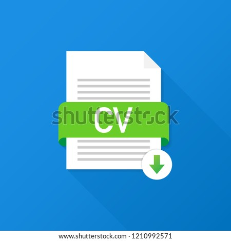 download cv button downloading document concept stock vector