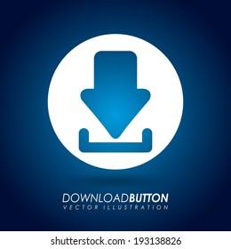 Download design over blue background, vector illustration