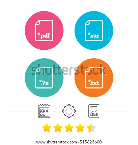 Download Document Icons File Extensions Symbols Stock Vector