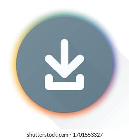 Download Down Arrow icon button illustration