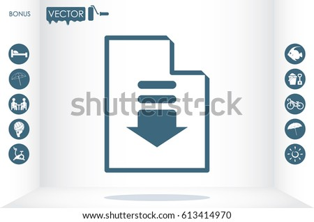 Download File Icon Vector Illustration EPS Stock Vector