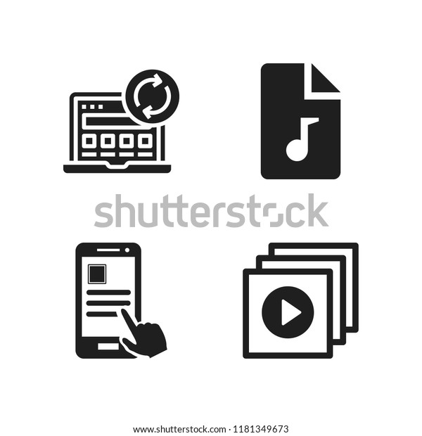 Download Icon 4 Download Vector Icons Stock Vector (Royalty Free