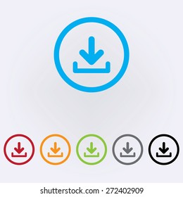 Download icon , color . Vector illustration