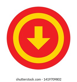 download icon. flat illustration of download vector icon for web