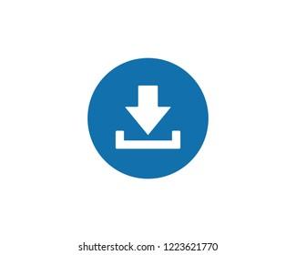 Download icon flat symbol vector
