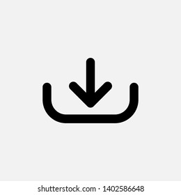Download Icon. Illustration of Take Data orTaking File As A Simple Vector, Trendy Sign & Symbol for Design, Websites, Presentation \u002F Application.