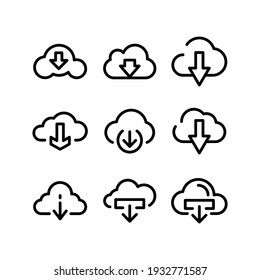 download icon or logo isolated sign symbol vector illustration - Collection of high quality black style vector icons