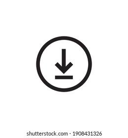 download icon symbol sign vector