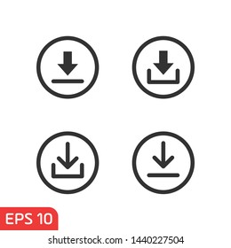 download icon symbol template black color editable. simple logo vector illustration for graphic and web design.