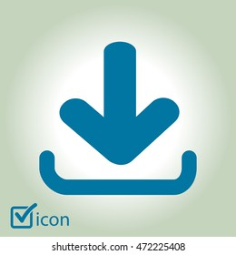 Download icon. Upload button.  Flat style.