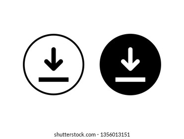 Download icon vector. Downloading vector icon