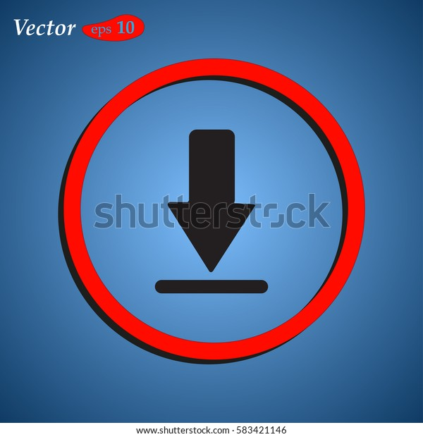 Download Icon vector flat design