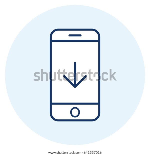Download Mobile App Line Icon Stock Vector (Royalty Free) 641337016