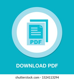 download PDF document icon - vector file format symbol