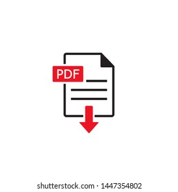 Download pdf file icon. button isolated on white background