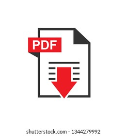 Download PDF File Icon. Universal  Illustration As A Simple Vector Sign & Trendy Symbol for Design and Websites, Presentation or Mobile Application.
