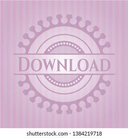 Download pink emblem. Vintage. Vector Illustration. Detailed.