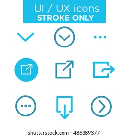 Download, Share, and  Load More Icons