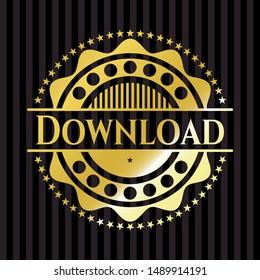 Download shiny emblem. Vector Illustration. Detailed.